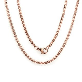 Men's 18k Rose Gold-plated Coreana Chain Necklace