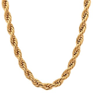 Steeltime Men's Gold Tone 30-inch Double Rope Chain