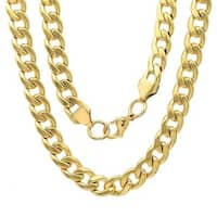 Steeltime Men's Gold Tone Cuban Chain