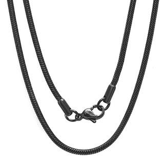 Men's Black IP Snake Chain