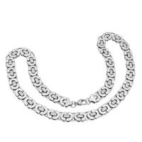 Stainless Steel Flat Byzantine Necklace