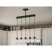 Mason 5-light Blackened Oil Rubbed Bronze Island Light