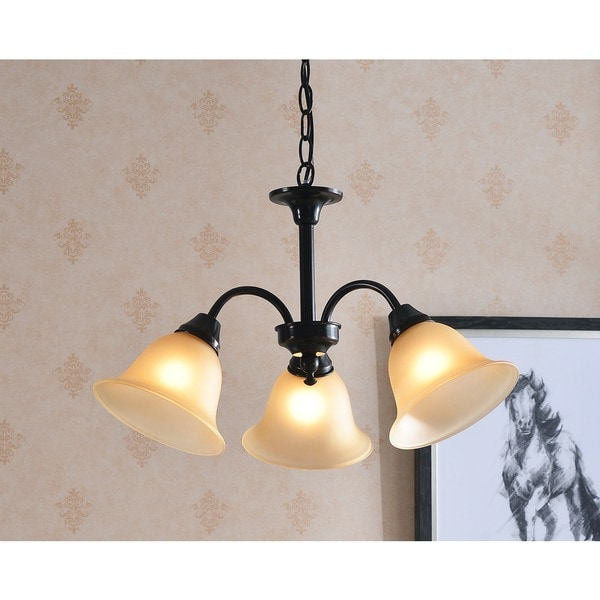 Lily Blackened Oil Rubbed Bronze 3-light Chandelier