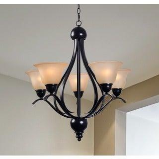 Design Craft Amanda Blackened Bronze 5-light Chandelier