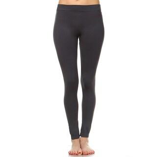 White Mark Women's Solid Leggings (Set of 2)
