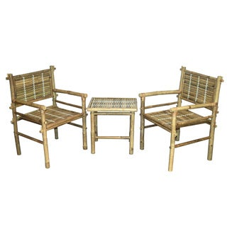 3-piece Natural Bamboo Chairs and Table Set (Vietnam)