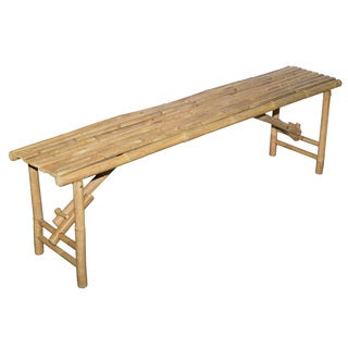 Handmade Long Bamboo Folding Bench (Vietnam)