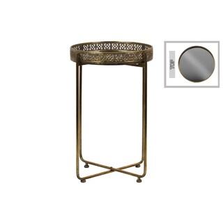 Antique Gold Pedestal Side Table