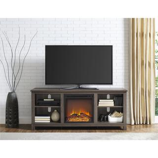 Ameriwood Home Edgewood TV Console with Fireplace for TVs up to 60 inches