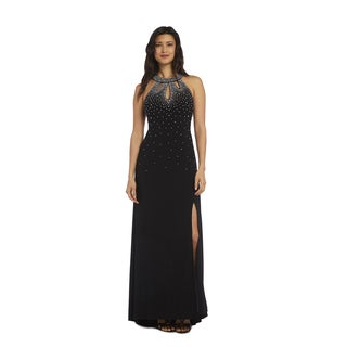 Nightway 1224 Gown with High Slit