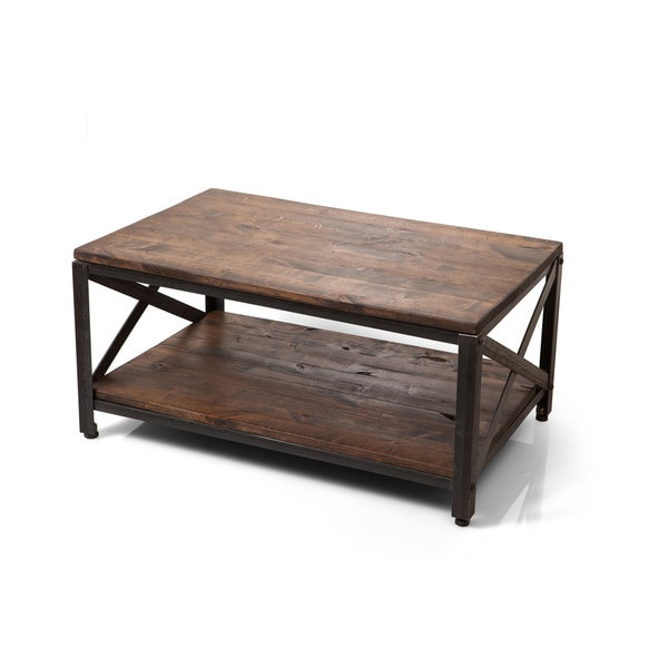 Ironwood farmhouse industrial coffee table free shipping for Industrial farmhouse coffee table