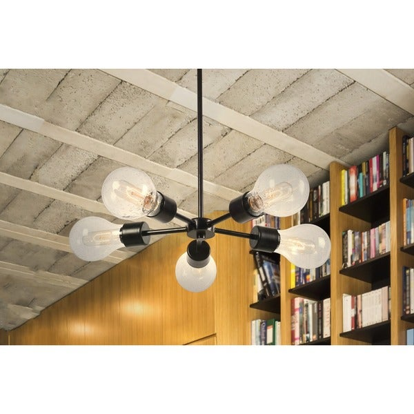 Design Craft Flux Blackened Oil Rubbed Bronze 5-light Chandelier