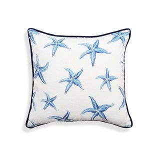 Myra White-Blue Starfish Pillow
