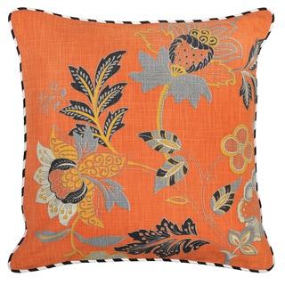 Kosas Home Tess 22-inch Orange Pillow
