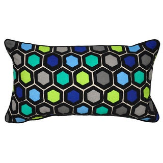 Kosas Home Buzzy Blue Multi 14 x26 Pillow