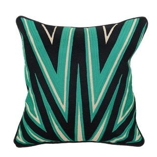 Kosas Home Rayonner Emerald / Black 18 inch Pillow