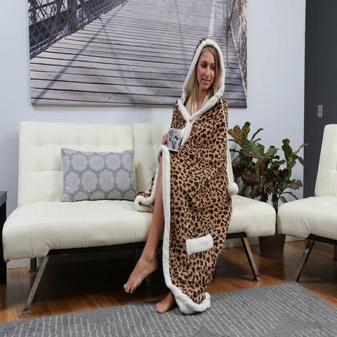 Chic Home Dixon 51x71 Hooded Snuggle Blanket
