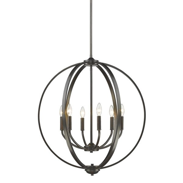 Colson EB 6 Light Chandelier in Etruscan Bronze