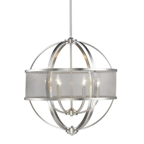 Colson Pewter 6-Light Round Chandelier