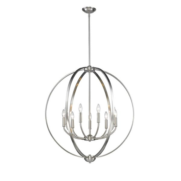 Colson PW 9-light Chandelier in Pewter