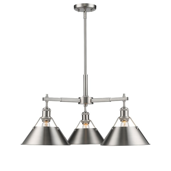 Orwell Pewter 3-Light Nook Chandelier with Pewter Shade