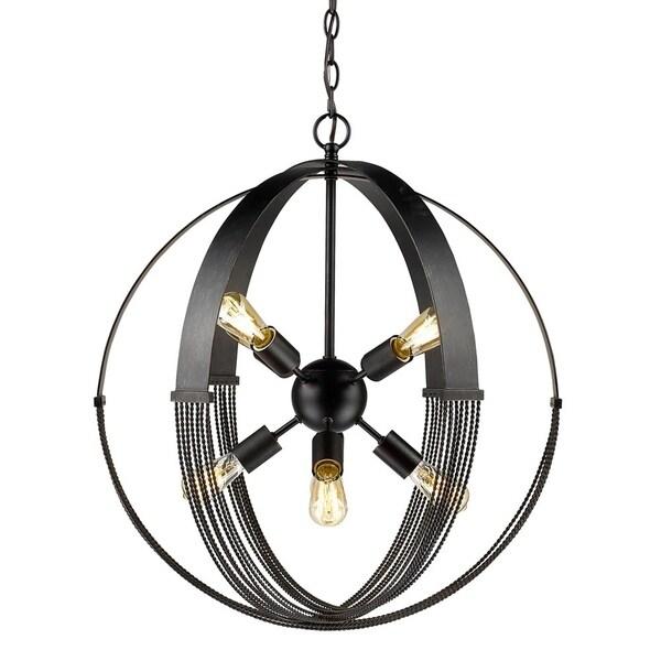 Shop Carter 8 Light Pendant In Aged Bronze