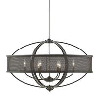 Colson Etruscan Bronze Linear Pendant with Mesh Metal Shade