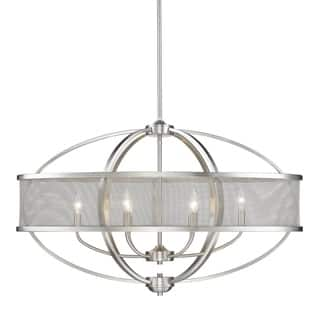 Golden Lighting Colson PW Steel Linear Pendant Light With Pewter Finish