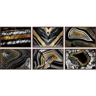 Hints of Gold Hexaptych