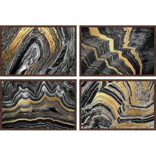 Gold Veins Quadriptych