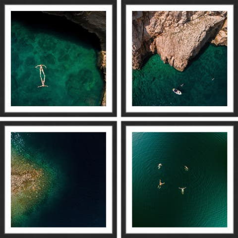 Marmont Hill - Handmade Quiet Coves Quadriptych