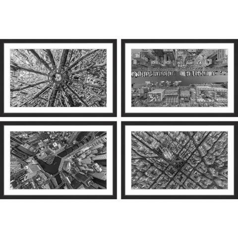 Marmont Hill - Handmade City Traffic Quadriptych