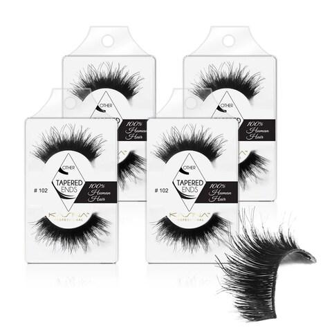 KASINA Human Hair Eyelash #102 (Pack of 4)