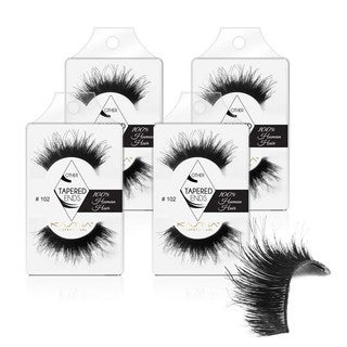 KASINA Human Hair Eyelash #102 (Pack of 4)