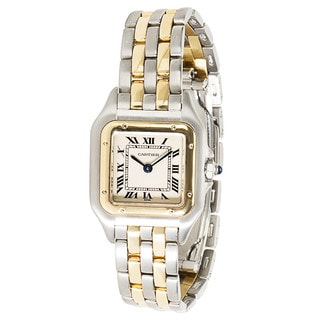 Pre-Owned Cartier 18k Gold & Steel Panthere W25029B6 Ladies Watch