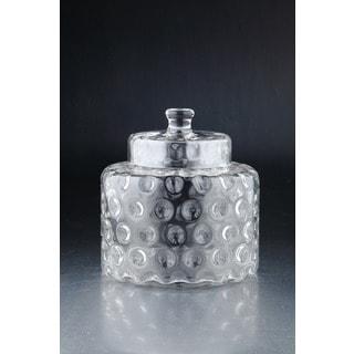 Dimpled Glass Medium Apothecary Jar