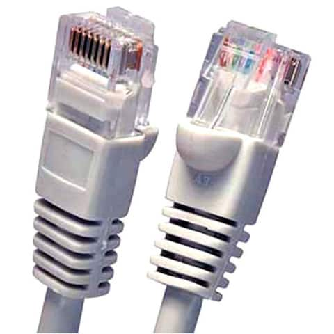 Fuji Labs Cat6 Grey UTP Ethernet Network Booted Cable