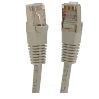 Fuji Labs Grey Cat6 STP Ethernet Network Booted Cable