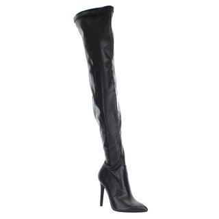 Delicious Women's IC42 Wrapped Stiletto Heel Inside Zipper Thigh High Boots