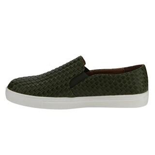 Beston DE10 Women's Woven Elastic Slip-on Flat Sneaker Shoes Run One Size Small