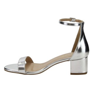 Beston Women's DE13 Faux-suede Single-band Buckle-strap Block-heel Dress-heel Ankle Sandals