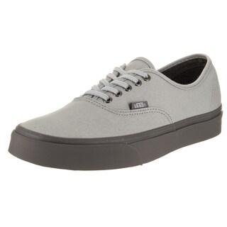 Vans Unisex Authentic (C D) Grey Canvas Skate Shoes