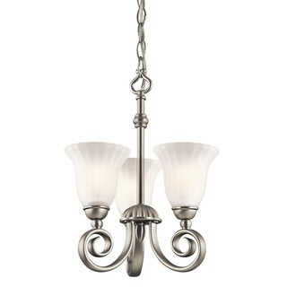 Kichler Lighting Willowmore Collection 3-light Brushed Nickel Chandelier/Semi Flush Mount