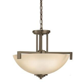 Kichler Lighting Eileen Collection 3-light Olde Bronze Inverted Pendant/Semi Flush Mount