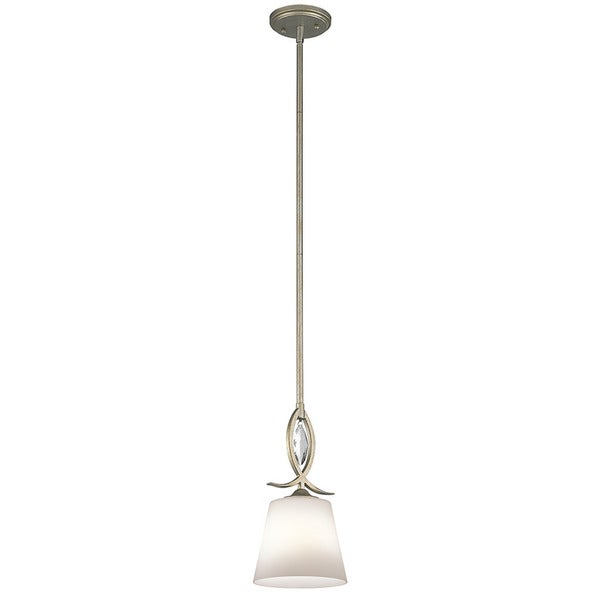 Kichler Lighting Casilda Collection 1-light Sterling Gold Mini Pendant