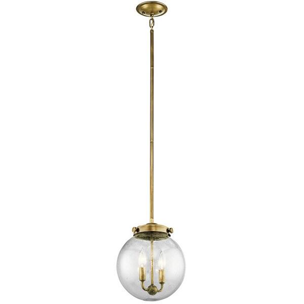 Kichler Lighting Holbrook Collection 2-light Natural Brass Mini Pendant