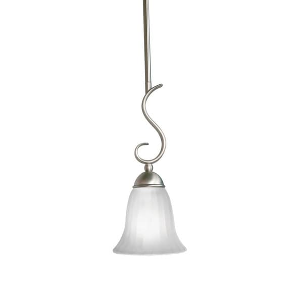 Kichler Lighting Willowmore Collection 1-light Brushed Nickel Mini Pendant