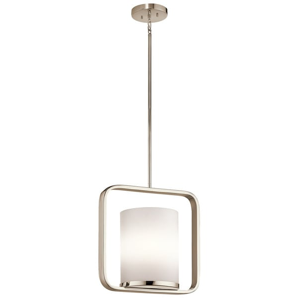 Kichler Lighting City Loft Collection 1-light Polished Nickel Pendant