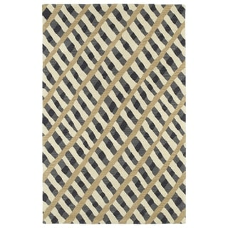 Hand-Tufted Artworks Grey Criss-Cross Rug (5' x 7'9)