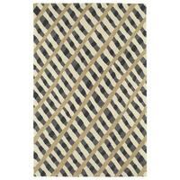 Hand-Tufted Artworks Grey Criss-Cross Rug - 5' x 7'9